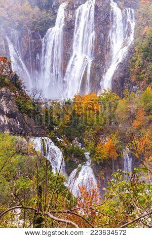Waterfalls, Plitvice National Park, Croatia
