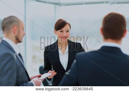 Business people Meeting In Modern Office.