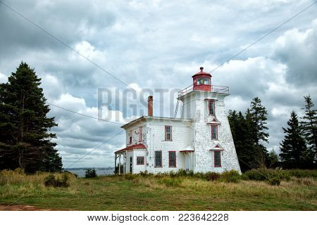 Blockhouse lighthouse in Prince Edward island in Canada