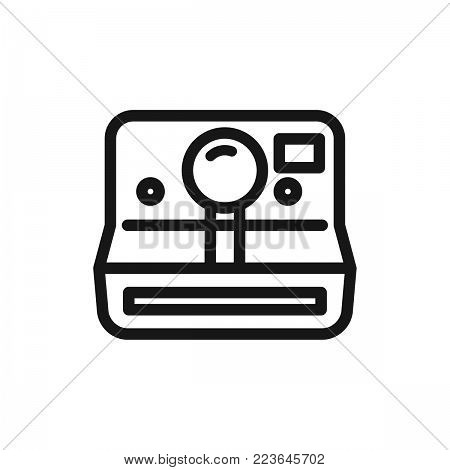 Camera icon isolated on white background. Camera icon modern symbol for graphic and web design. Camera icon simple sign for logo, web, app, UI. Camera icon flat vector illustration, EPS10.