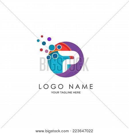 sophisticated luxury logos,  initials P icon design,  abstract logo, initials symbol design