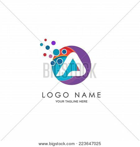 sophisticated luxury logos,  initials A icon design,  abstract logo, initials symbol design