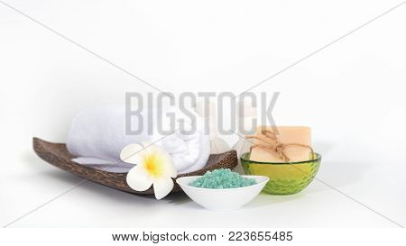Thai Spa Massage Compress Balls And Salt Spa Objects