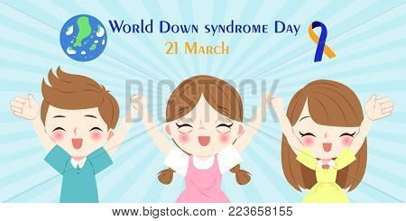 children with world down syndrome day concept
