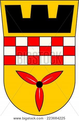 Coat of arms of Wetter is a town in the federal state of North Rhine-Westphalia, Germany. Vector illustration