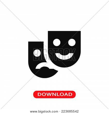 Masks icon vector in modern flat style for web, graphic and mobile design. Masks icon vector isolated on white background. Masks icon vector illustration, editable stroke and EPS10. Masks icon vector simple symbol for app, logo, UI.