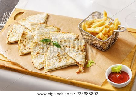 tortilla with french fries