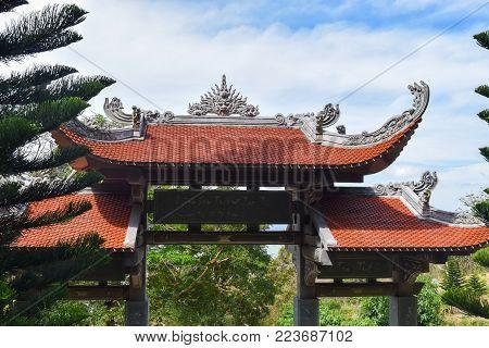 Entrance to Ta Cu Mountain in Vietnam