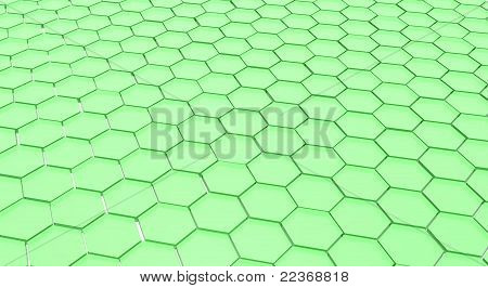 Green honey comb pattern