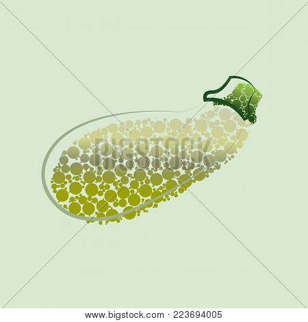 Fresh zucchini isolated on background. Squash whole. Fresh vegetable marrow isolated. Oblong, green squash. Vegetable marrow courgette or zucchini. Harvest courgette organic ingredient.