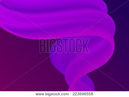 Colorful Abstract Liquid And Fluid Cover Design. Minimal Geometric Gradients Background.
