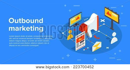 Social Media Concept Vector Illustration With Magnet Engaging Followers And Likes. Influence Marketi