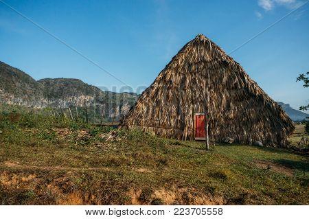 straw building in Cuba, Vinales valley, November 2016