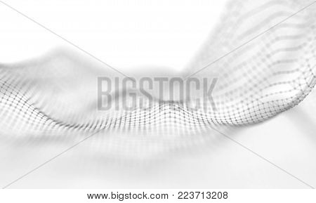 Abstract Light Geometrical Background . Connection structure. Science background. Futuristic Technology HUD Element . onnecting dots and lines . Big data visualization Business .