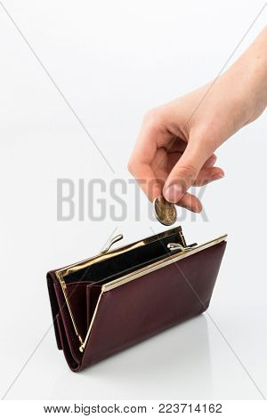 purse and coin