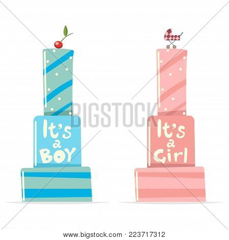 Baby shower cake with the text
