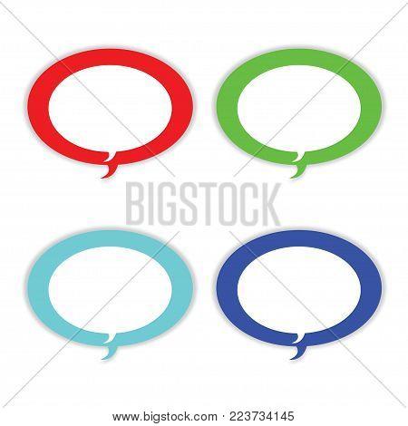 speech bubble icons - dialogue boxes vector set