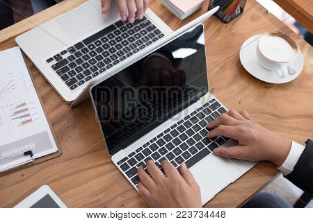 financial inspector analyze accounting plan report. business man working with new startup project. internal auditor audit performance revenue at office.