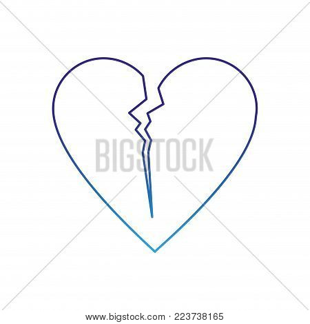 Heart of love passion and romantic theme Isolated design Vector illustration