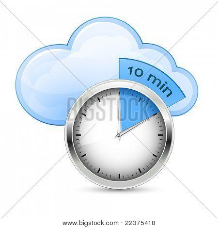 Cloud Hosting Fast Setup. Vector Illustration