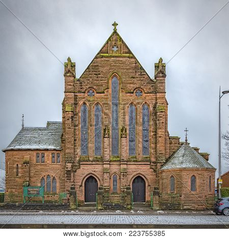 Our Holy Redeemers chapel in the Scottish town of Clydebank.