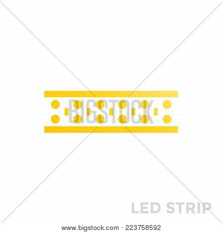 LED lights strip icon, eps 10 file, easy to edit