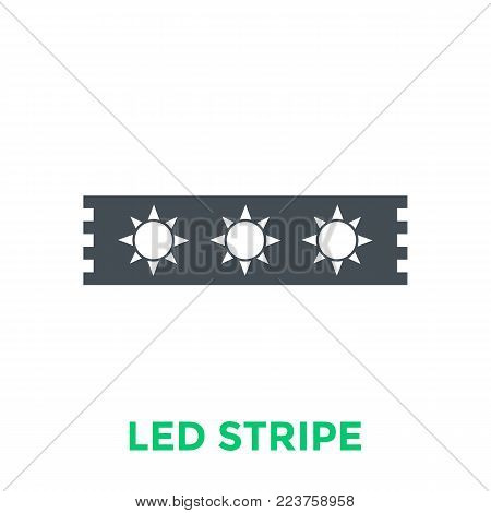 LED stripe icon, vector pictogram, eps 10 file, easy to edit