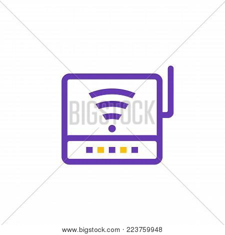 Router icon, modem pictogram, eps 10 file, easy to edit