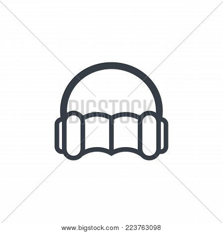 audiobook icon isolated on white, eps 10 file, easy to edit