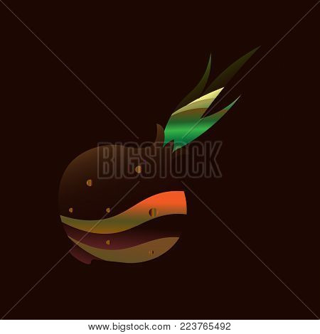 Vector semi realistic illustration of onion. White, yellow and red onion bulbs. Original stylization of vegetables