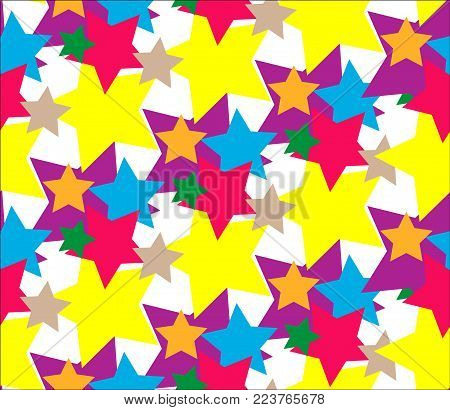 Star Set abstract Pattern Vector. Colorful abstract pattern from stars. Illustration