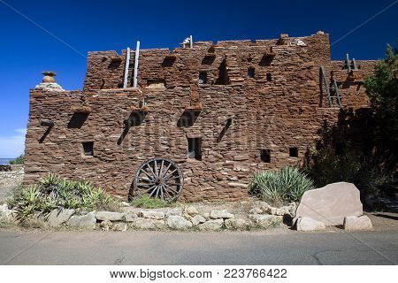 The landmark building at the Grand Canyon Historic Village in Arizona