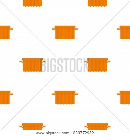 Orange garbage tank pattern seamless background in flat style repeat vector illustration