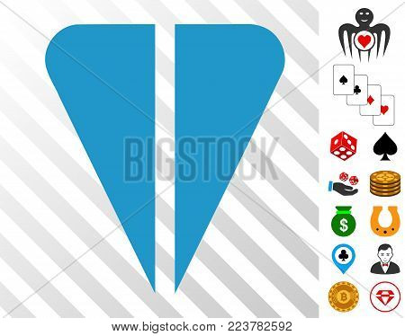 Ton Currency icon with bonus gamble pictures. Vector illustration style is flat iconic symbols. Designed for gambling ui.