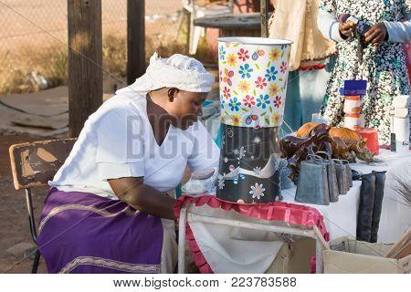 Zezuru African woman street vendor