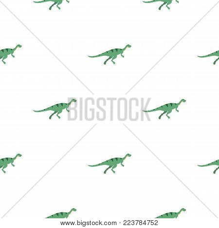 Gallimimus dinosaur pattern seamless for any design vector illustration