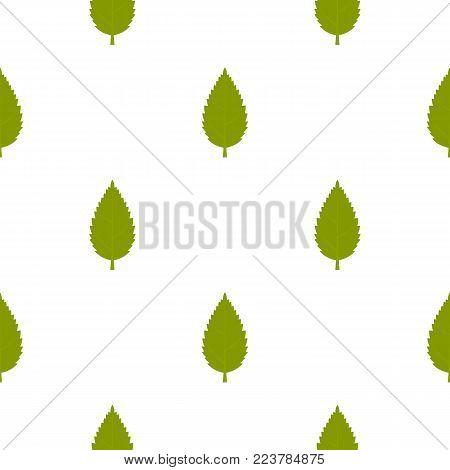 Green hornbeam leaf pattern seamless for any design vector illustration