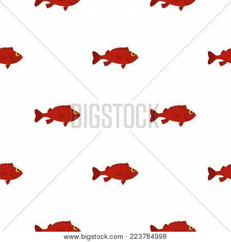 Red betta fish pattern seamless for any design vector illustration