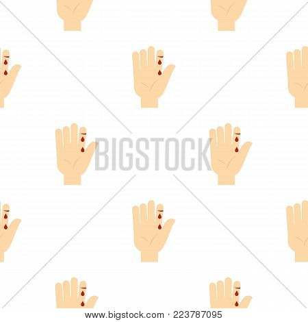 Bleeding human thumb pattern seamless for any design vector illustration