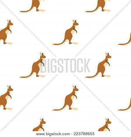 Kangaroo pattern seamless for any design vector illustration