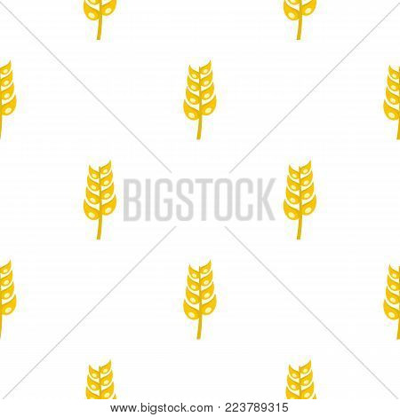 Ripe spica pattern seamless for any design vector illustration