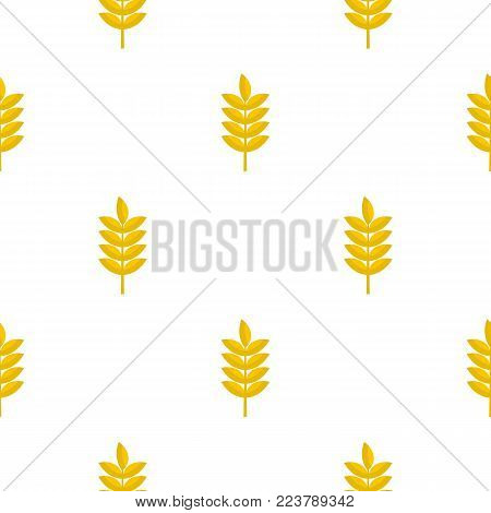 Rye spica pattern seamless for any design vector illustration