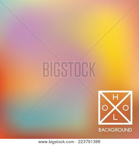Holographic backdrop. Holo sparkly cover. Abstract soft pastel colors backdrop. Trendy creative vector cosmic gradient.  Mesh holographic foil.  Creative neon template for banner.
