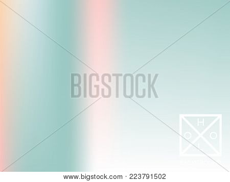 Holographic backdrop. Holo iridescent cover. Abstract soft pastel colors backdrop. Trendy creative vector cosmic gradient.  Mesh holographic foil.  Creative neon template for banner.