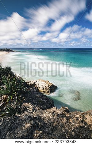 Frenchmans Beach On Stradbroke Island, Queensland.