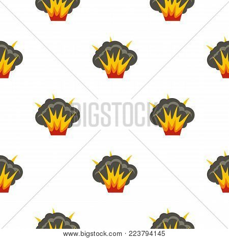 Projectile explosion pattern seamless for any design vector illustration