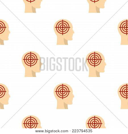 Human head with red crosshair pattern seamless for any design vector illustration