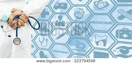 Doctor With Medical Healthcare Icon Interface