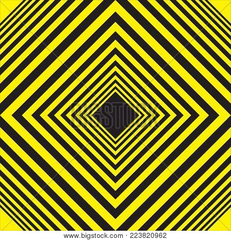 BLACK AND YELLOW BACKGROUND GRAPHIC diamond descending squares