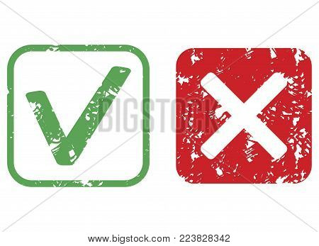 Stamp Imprint Approve Texture And Reject Vector